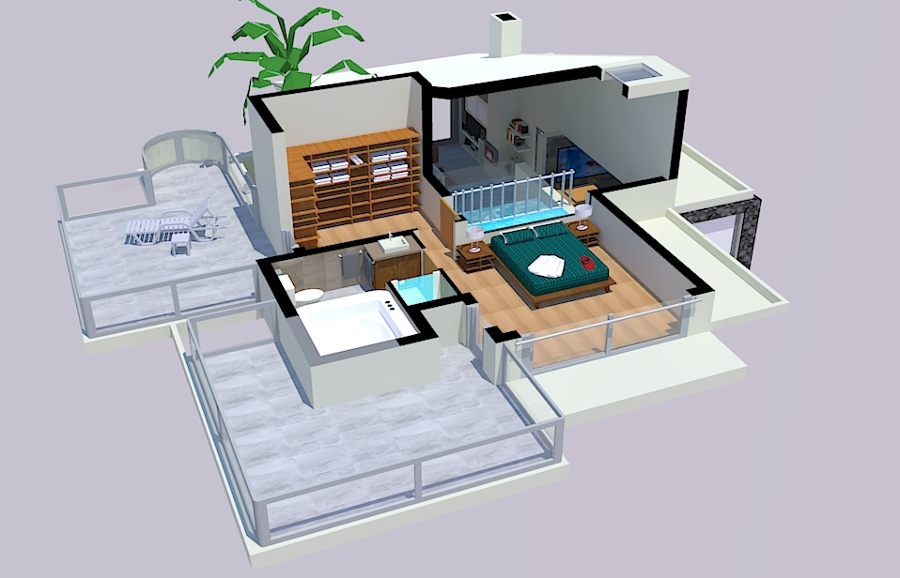 Foto vivienda unifamiliar en maguez planta alta for Distribucion de casas modernas de una planta