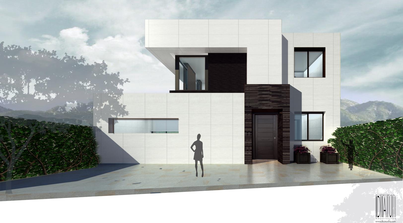 Foto vivienda unifamiliar lm acceso principal de for Puertas de acceso principal