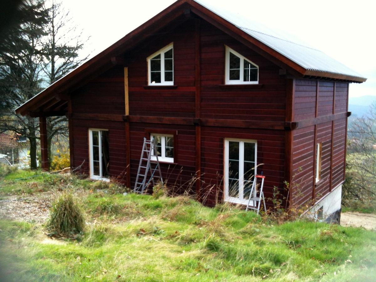 Vivienda unifamiliar de madera proyectos construcci n - Casas prefabricadas en pontevedra ...