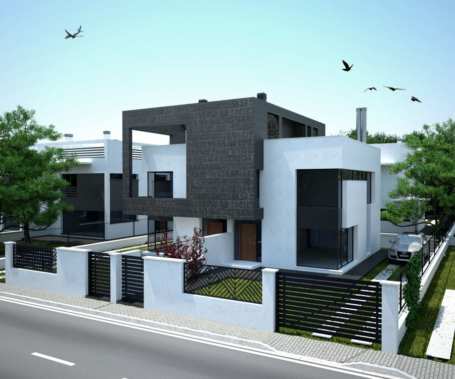Foto viviendas pareadas alhaur n de la torre de laguia s - Arquitectos en soria ...