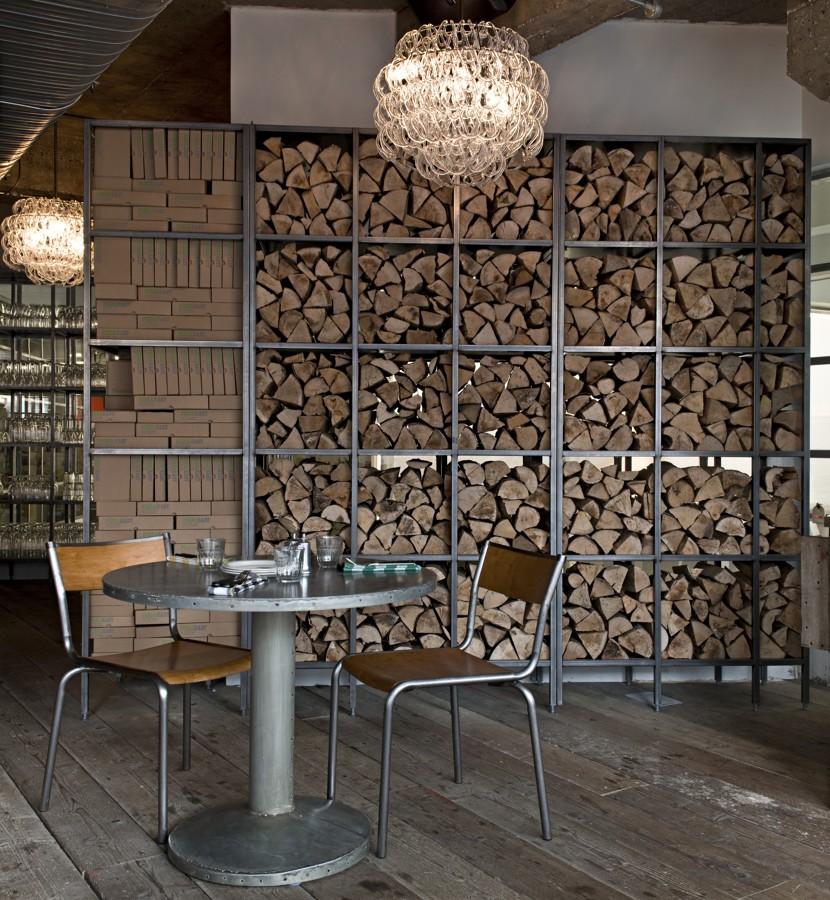 pared con madera