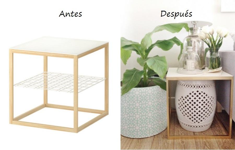 Trucos para modificar tus muebles de ikea ideas decoradores - Mesa auxiliar sofa ikea ...