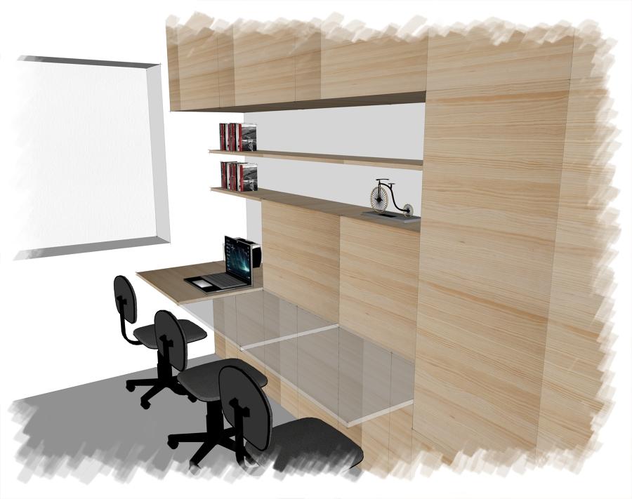Zona de almacenaje y estudio