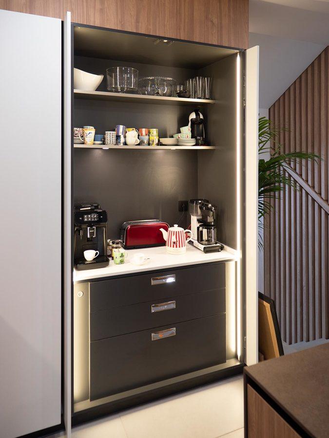 Zona de desayunos integrada en la cocina