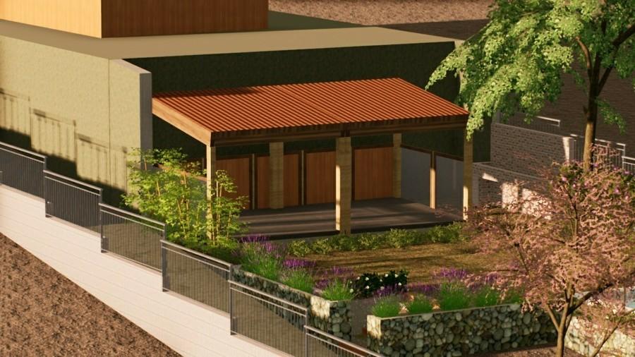Zona de estancia, uso y disfrute adosado a la vivienda