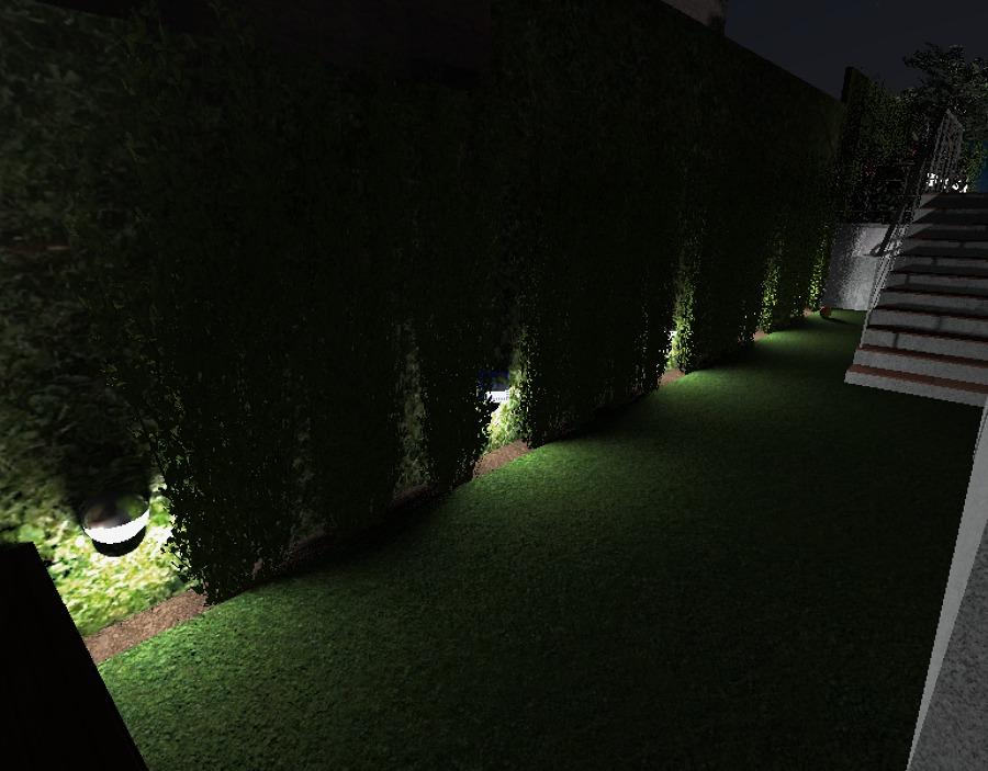 Zona de juegos de noche