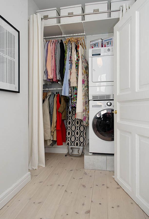 zona de lavado con cortinas