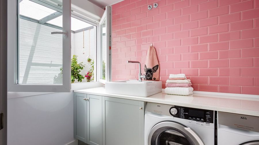 Zona de lavado y secado en casa