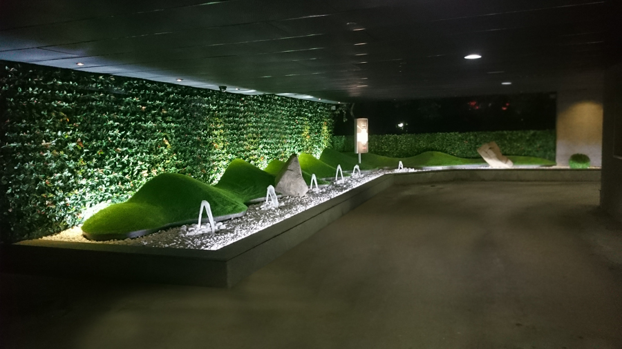 Zona de Paso de Noche con iluminación trasera