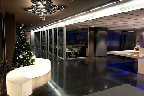 Zona de recepción y reunión, banco espera