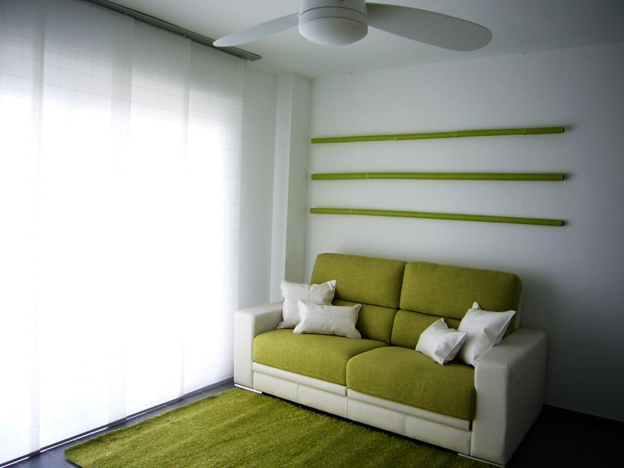 Zona de sofá deslizante y paneles japoneses