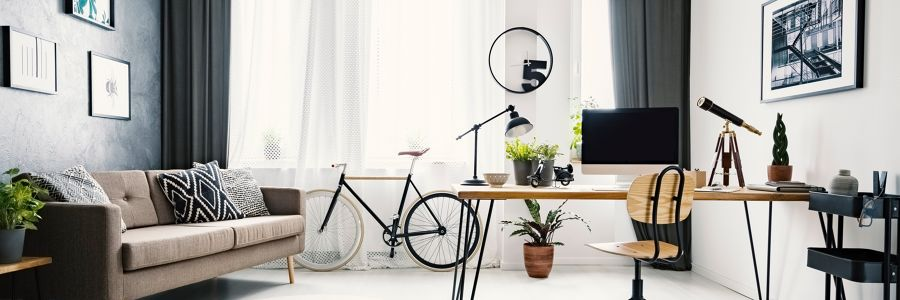Zona de trabajo con bicicleta