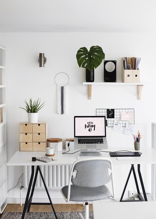 Zona de trabajo en casa