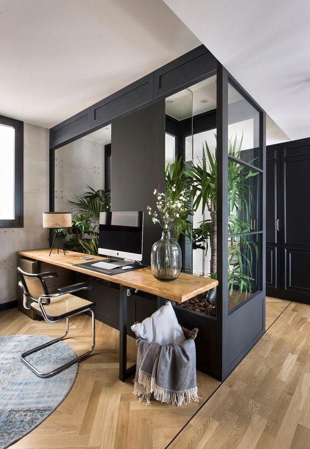 Zona de trabajo en el interior de casa
