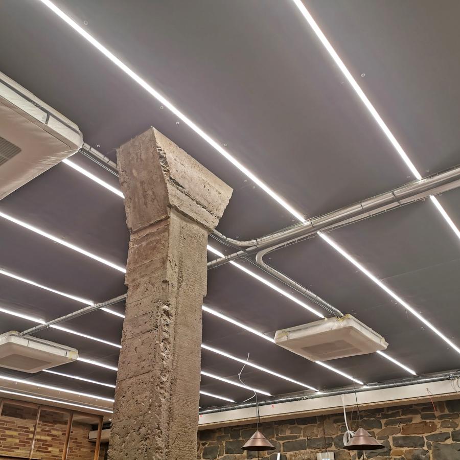 Zona restaurante. Iluminación LED