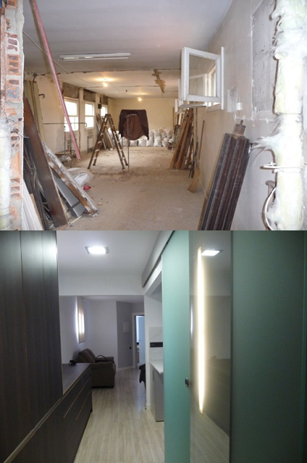 Antes y despu s reforma integral de piso de 60 m2 ideas for Reformar piso entero