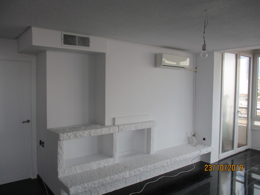 Zona sala de estar diáfana