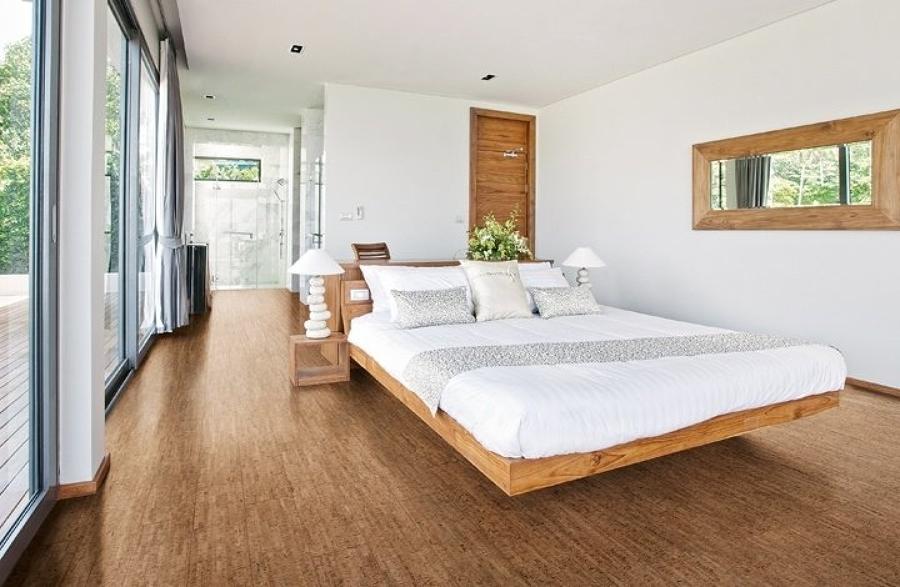 Corcho una material sostenible de posibilidades infinitas for Cork flooring in bedroom