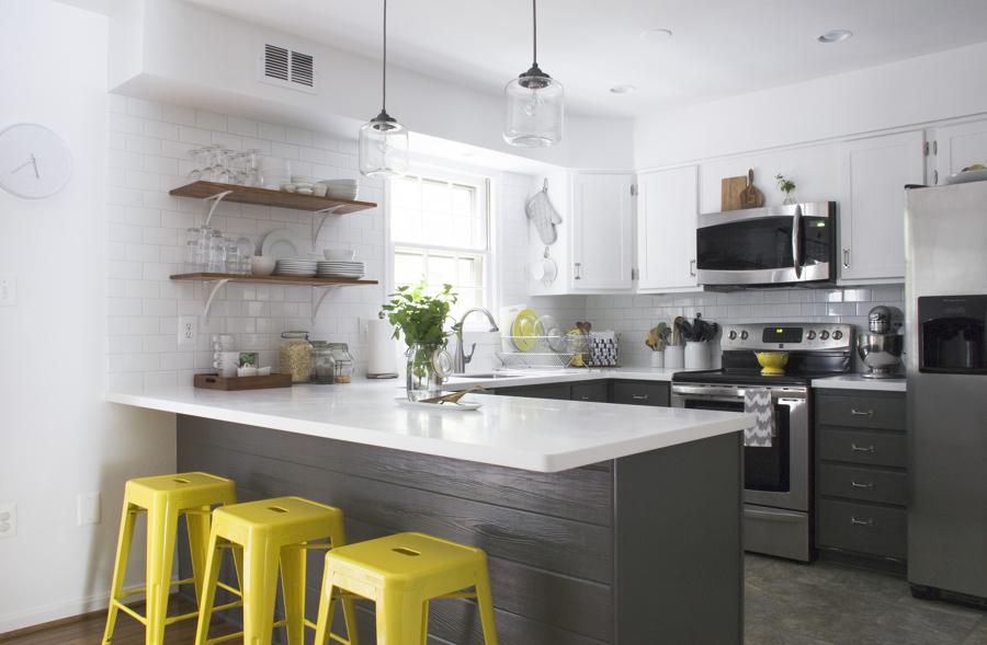 El sorprendente antes y despu s de 5 cocinas i ideas for Muebles pintados en gris