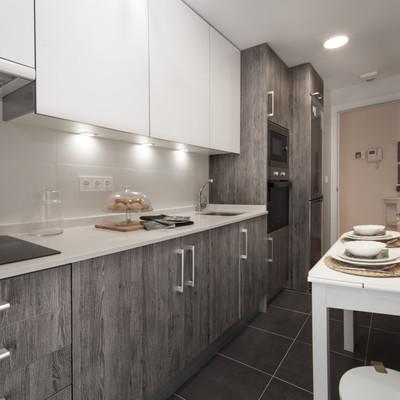 Ideas y fotos de muebles cocina madera gris para for Muebles de cocina gris