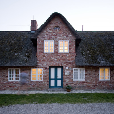 Fachada casa de ladrillo