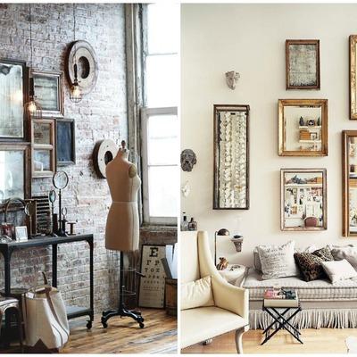 decorar con colecciones de espejos