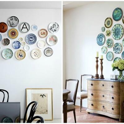 decorar con colecciones de platos