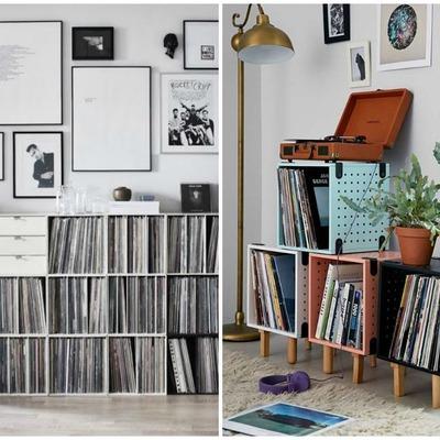decorar con colecciones de discos