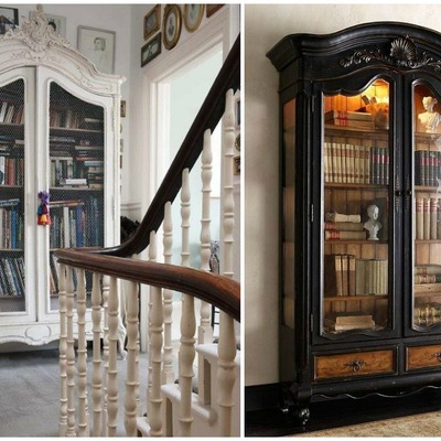 armarios antiguos librería