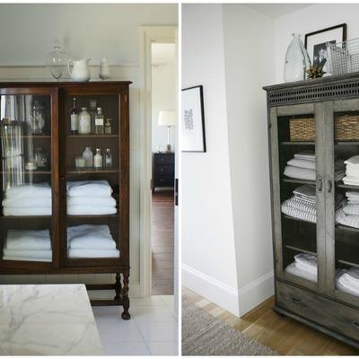 armarios antiguos para el baño