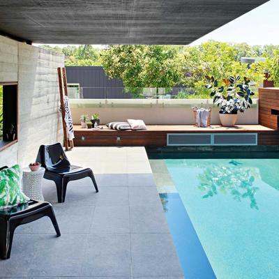 piscina pequeña en patio