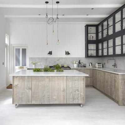 cocina con encimera granito