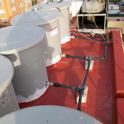Suministro y sustitución de depósitos de agua