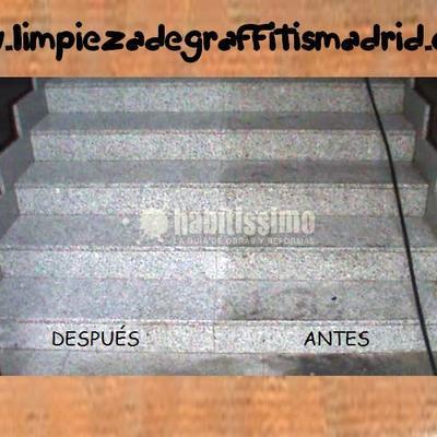 Limpieza de escaleras y monumentos de piedra