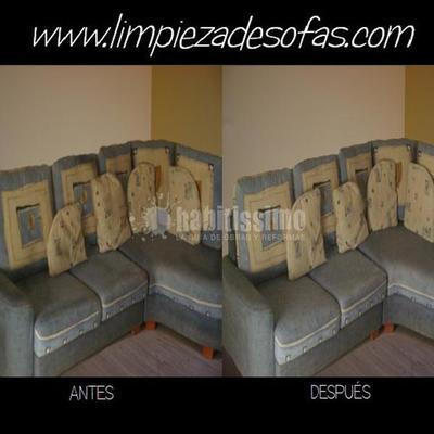 Limpieza de sofás rinconera