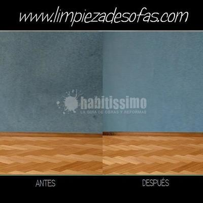 Limpieza de paredes enteladas o enmoquetadas