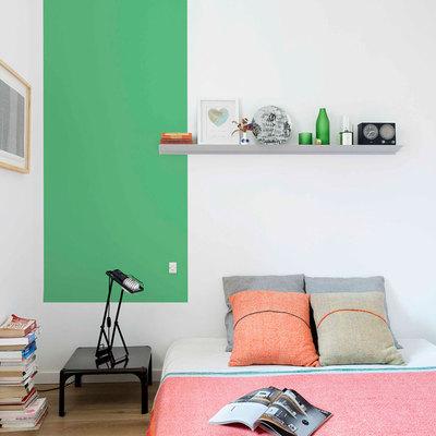 El antes y después de una casa llena de color