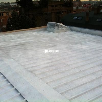 Aislamiento térmico con corcho proyectado