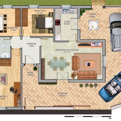 Proyecto de Obra nova en construcción. 150 m2 se vivienda más 370 m2 de solar.