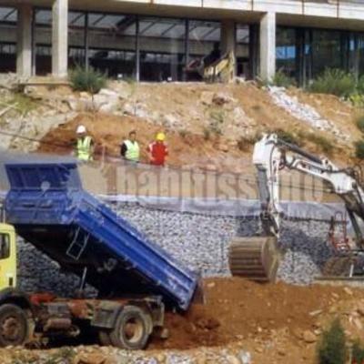 Muros de piedra para contención del terreno