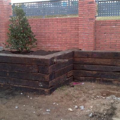 Construcción Traviesa Tren Jardín