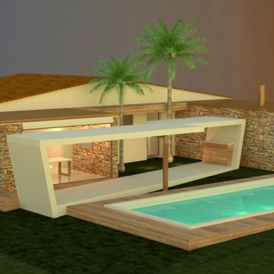 Ampliación de una  vivienda unifamiliar en San Antonio de Benajeber