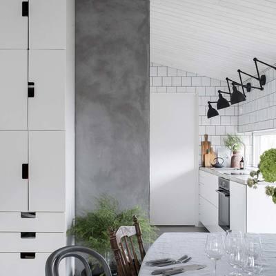 Una casa de estilo boho e industrial
