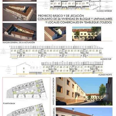 Proyecto de 26 viviendas en tembleque. (Toledo)