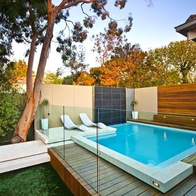 piscina de fibra elevada
