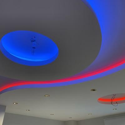 Diseño de techo con tiras led