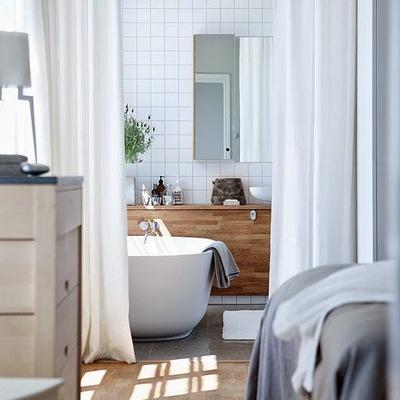 Cortinas separar baño