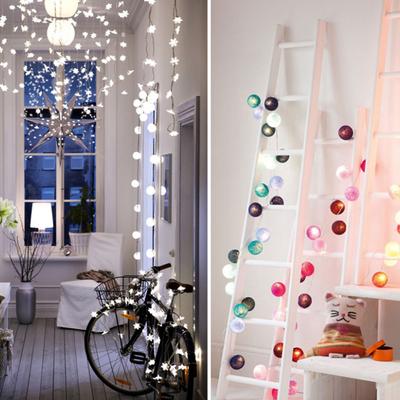 Guirnaldas de luz: pequeños destellos navideños
