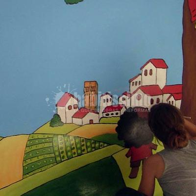 Mural el campo en la ciudad