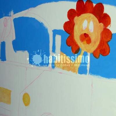 Mural autobus en la selva